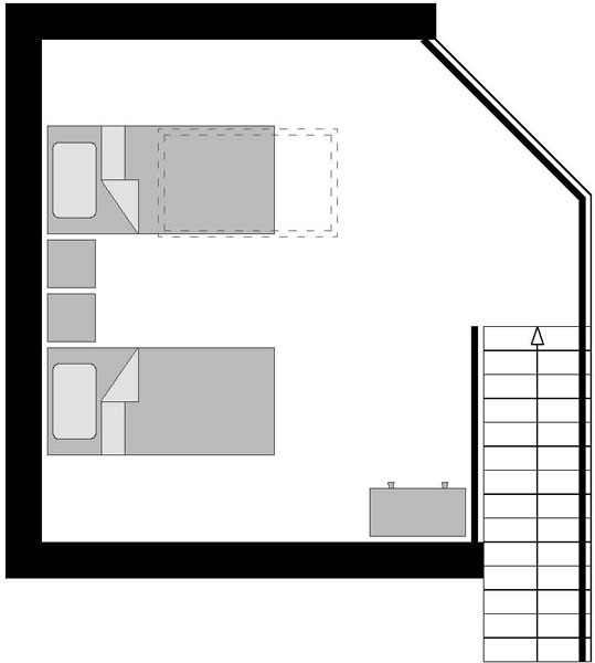 Floor plans chalet eco lodge is a 1920 39 s village house 2nd floor loft ideas