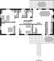 floor plan chalet La Forge